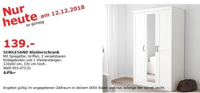 IKEA Essen - SONGESAND Kleiderschrank