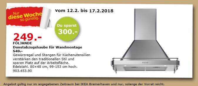 IKEA FÖLJANDE Dunstabzugshaube