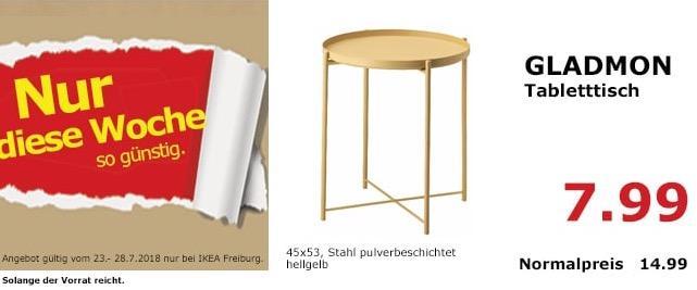 IKEA Freiburg  GLADMON Tabletttisch