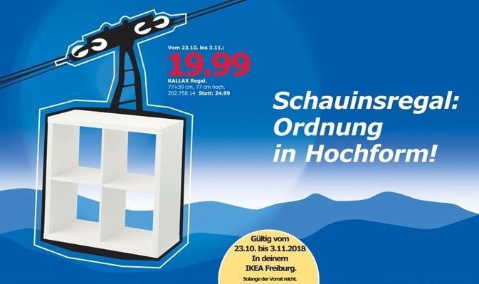 IKEA Freiburg - Kallax Regal.  77x39x77 cm - jetzt 20% billiger
