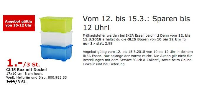 IKEA GLIS Box mit Deckel 3 Stück
