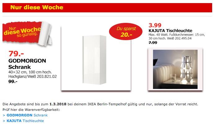 IKEA GODMORGON Schrank