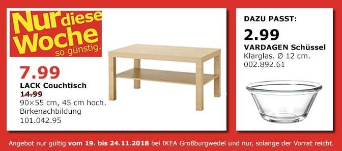 IKEA Großburgwedel - LACK Couchtisch, 90x55 cm, 45 cm hoch