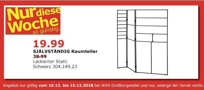 IKEA Großburgwedel - SJÄLVSTÄNDIG Raumteiler