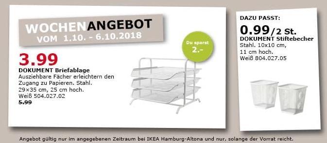 IKEA Hamburg-Altona - DOKUMENT Briefablage - jetzt 33% billiger