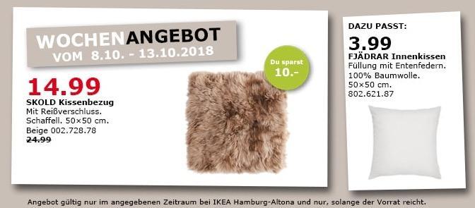 IKEA Hamburg-Altona - SKOLD Kissenbezug, Schaffell - jetzt 40% billiger