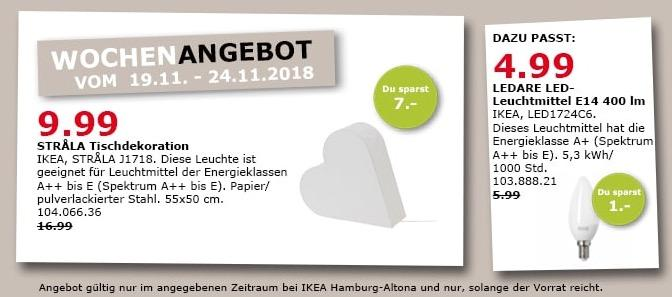 IKEA Hamburg-Altona - STRALA Tischdekoration, Lichtherz