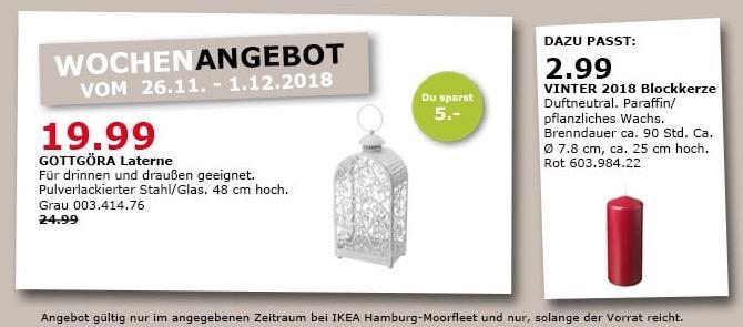 IKEA Hamburg-Moorfleet - GOTTGÖRA Laterne für drinnen und draußen