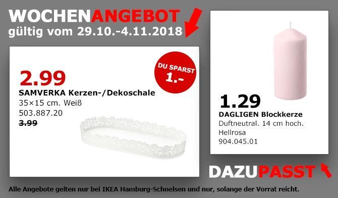 IKEA Hamburg-Schnelsen - SAMVERKA Kerzen-/Dekoschale