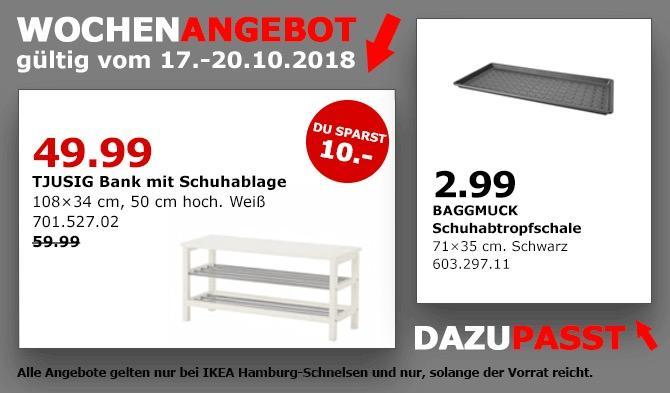 IKEA Hamburg-Schnelsen - TJUSIG Bank mit Schuhablage