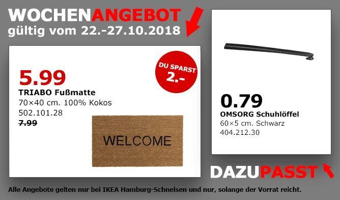 IKEA Hamburg-Schnelsen - TRIABO Fußmatte - jetzt 25% billiger