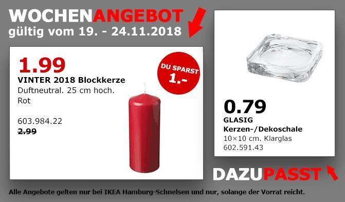 IKEA Hamburg-Schnelsen - VINTER 2018 Blockkerze, 25 cm hoch