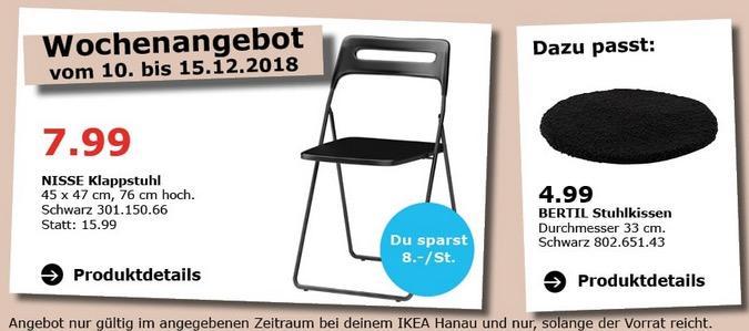 IKEA Hanau - NISSE Klappstuhl schwarz