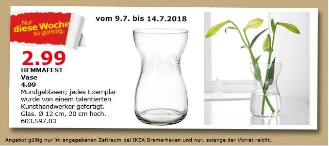 IKEA HEMMAFEST Vase - jetzt 40% billiger