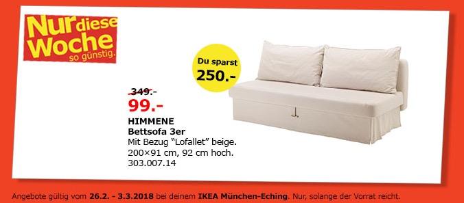IKEA HIMMENE Bettsofa3er