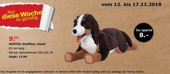 IKEA HOPPIG Stofftier, Hund