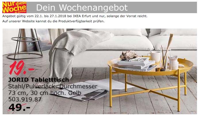 IKEA JORID Tabletttisch - jetzt 61% billiger