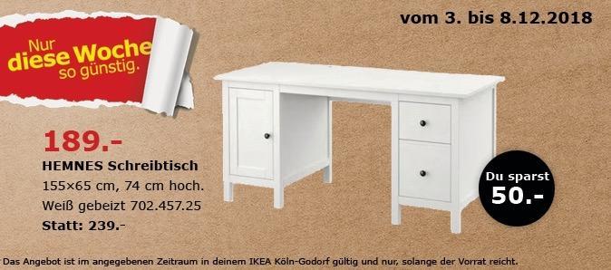 IKEA Köln-Godorf - HEMNES Schreibtisch