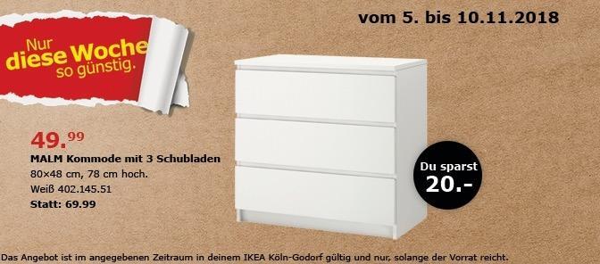 IKEA Köln-Godorf - MALM Kommode mit 3 Schubladen