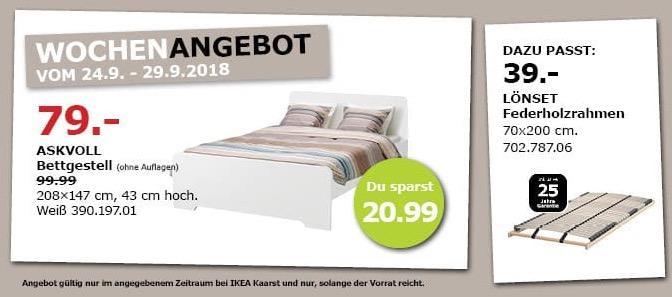 IKEA Kaarst - ASKVOLL Bettgestell