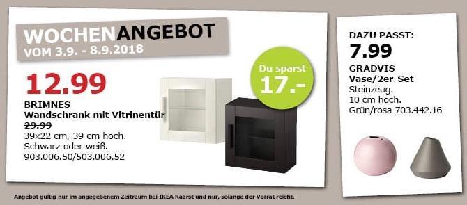 IKEA Kaarst - BRIMNES Wandschrank mit Vitrinentür