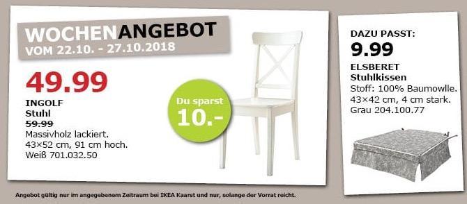 IKEA Kaarst - INGOLF Stuhl weiß