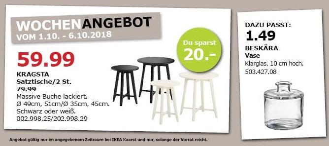 IKEA Kaarst - KRAGSTA Satztische/ 2St