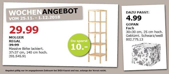 IKEA Kaarst - MOLGER Regal, 37x37 cm, 140 cm hoch