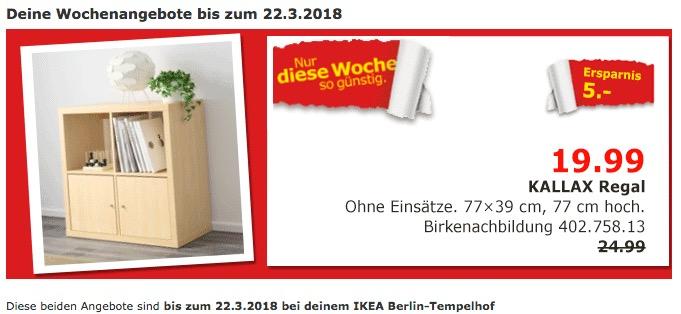 IKEA KALLAX Regal, Birkenachbildung für 19,99€
