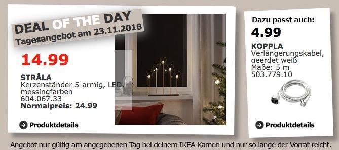 IKEA Kamen - STRALA Kerzenständer 5-armig
