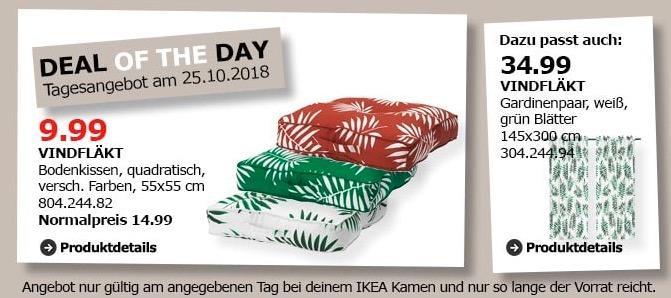 IKEA Kamen - VINDFLÄKT Bodenkissen