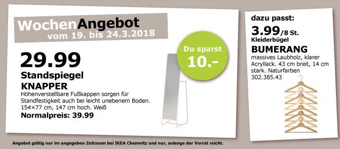 IKEA KNAPPER Standspiegel