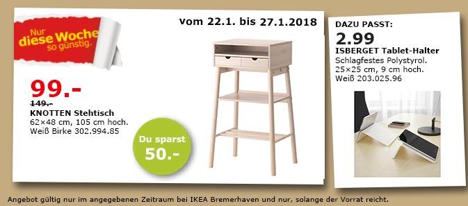 IKEA KNOTTEN Stehtisch