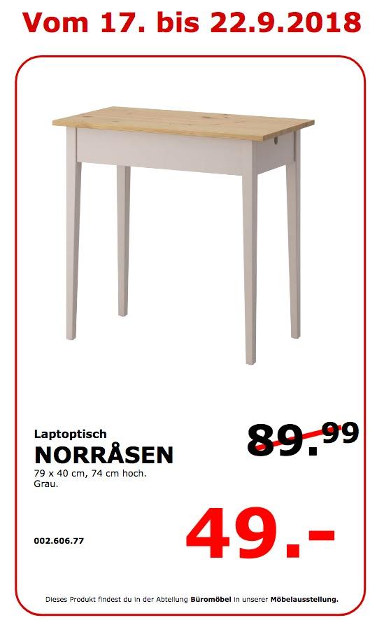 IKEA Koblenz - NORRASEN Laptoptisch