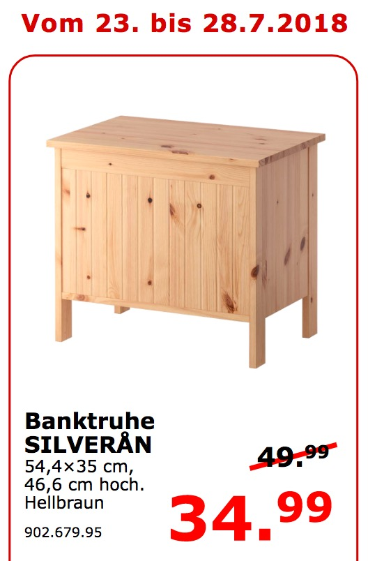 IKEA Koblenz SILVERAN Banktruhe