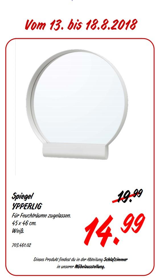 IKEA Koblenz YPPERLIG Spiegel 45x46 cm, weiß