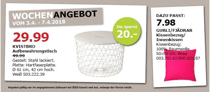 IKEA KVISTBRO Aufbewahrungstisch