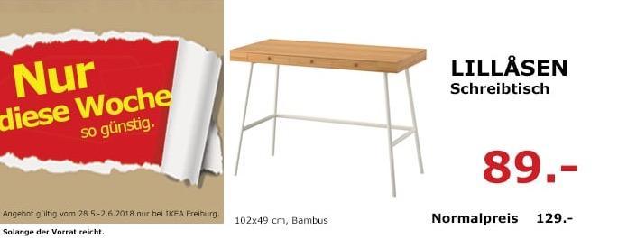 IKEA LILLASEN Schreibtisch, 102x49 cm