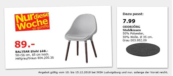 IKEA Ludwigsburg - BALTSAR Stuhl, hellgrau/braun