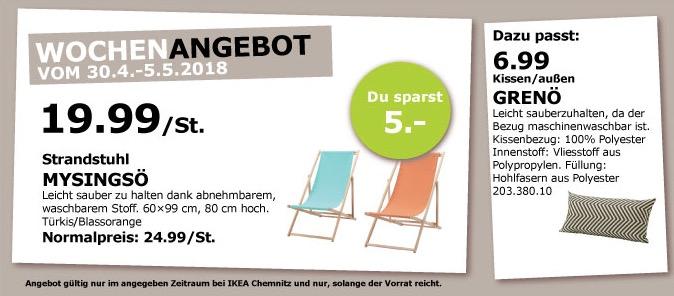 IKEA MYSINGSÖ Strandstuhl