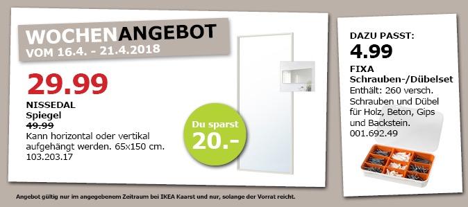 IKEA NISSEDAL Spiegel