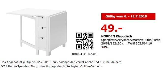 IKEA NORDEN Klapptisch