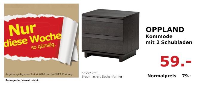 IKEA OPPLAND Kommode mit 2 Schubladen