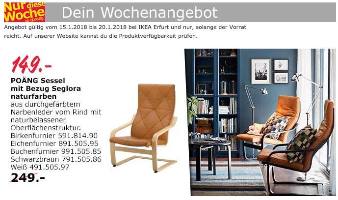 IKEA POÄNG Sessel  - jetzt 40% billiger