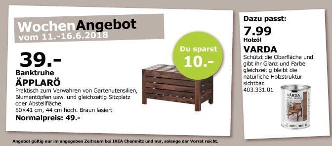 IKEA ÄPPLARÖ Banktruhe
