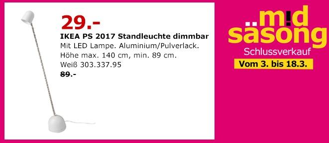 IKEA PS 2017 Standleuchte dimmbar - jetzt 67% billiger