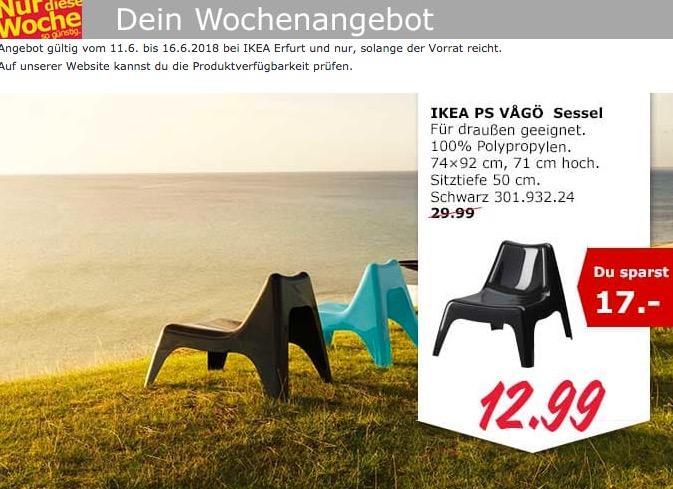 IKEA PS VAGÖ Sessel schwarz