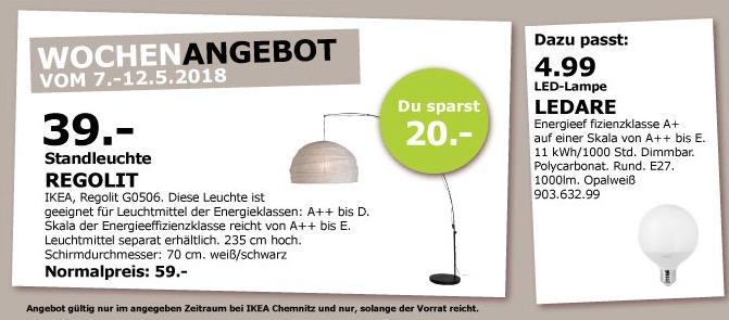 IKEA REGOLIT Standleuchte