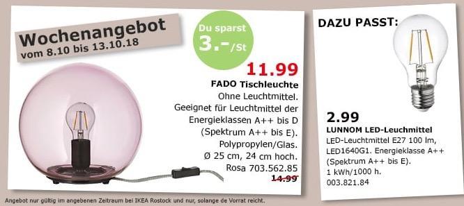 IKEA Rostock - FADO Tischleuchte