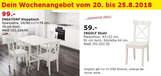 IKEA Rostock - INGATORP Klapptisch
